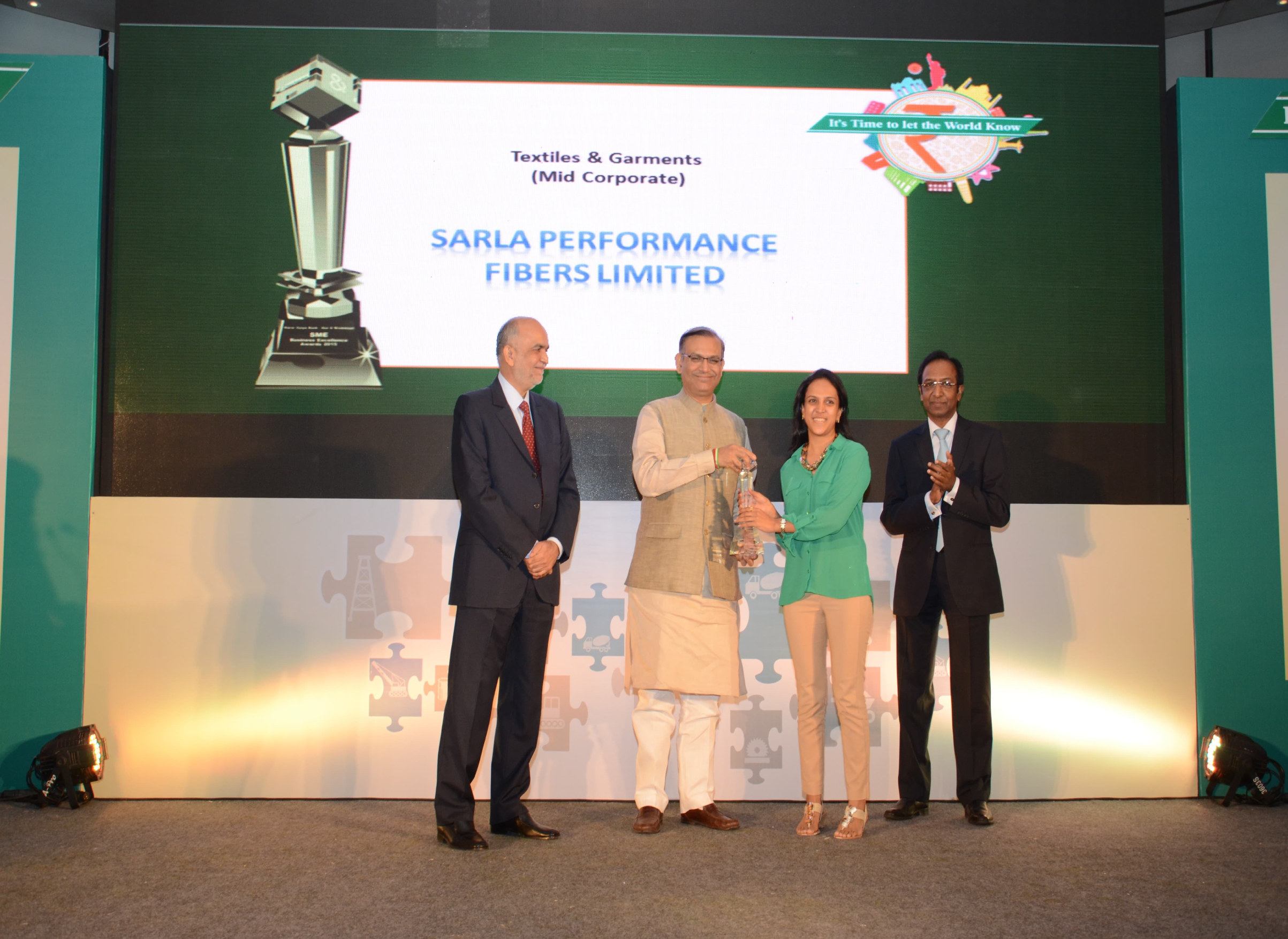 Sarla fibers-Best Global Business Award